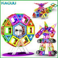 Kacuu 19-125 pz Big Size Magnents Building Blocks Costruttore Designer magnetico Building Toys Giocattoli modello per bambini Q0723