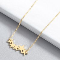 Stainless Steel Jewelry Female Necklace Stars Gold Send Ladies Gift Accessories Pendant Color Sweet Chains