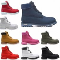 Classic Ankle Boots Designer Martin Womens Leather Shoes Mens Trainers Boot for Cowboy Yellow Military Triple Size 36-45 XX-0165