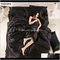 Set di biancheria da letto in seta di gelso naturale Set di copertura piumino Set di copriletto Letto BedClothes Lenzuolo Queen Size 210309 TokyP 1842S