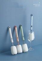 Pincel de copa de esponja Frote de botella desmontable Jarra de leche doméstica Taza de vacío de mango largo, limpieza y lavado de tazas