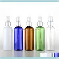 Drinkware Kitchen, Dining Bar Home & Garden2Pcs 100Ml Spray Bottle Electrolytic Aluminum Nozzle Round Shoulder Cosmetic Plastic Sub-Bottle W