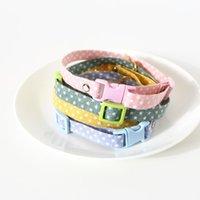 Cats Bells Collars Verstelbare Nylon gespen Mode Reflecterende Pet Kraag Kat Hoofd Patroonbenodigdheden voor Accessoires