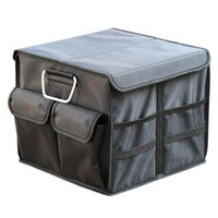 Car Organizer Trunk Storage Box Oxford Cloth Multifunctional Foldable Large Capacity Cargo With Multiple Pocket Bags