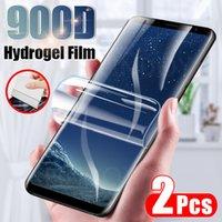 Cell Phone Screen Protectors 2Pcs hidrogel de película para Samsung Galaxy S8 S9 S10 S20 Plus Nota 8 10 Protector pantalla 20 Ultra no vidrio