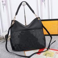 Двойная сумка Покупки Женщины Сумки Большие Емкости Пакет Простой Кожа Тиснение Натуральная Кожа Вязание Запястье Высококачественный Длинный Плевый Ремешок