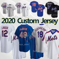New York Mets Jersey 12 Francisco Lindor Baseball Jerseys lindor 48 Jacob Degrom 20 Pete Alonso 18 Darryl Strawberry 31 Mike Piazza Noah Syndergaard Jersey
