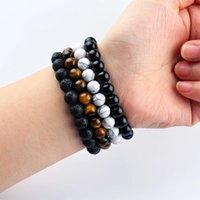 Gioielli fatti a mano all'ingrosso perline fili bracciali Braccialetti in pietra naturale Braccialetto semplice gioielli gemme semplici strato singolo 8mm