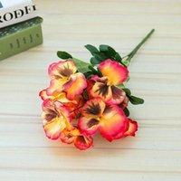 Flores decorativas grinaldas um monte de alta qualidade flor artificial amor amortecedor creativo casa decora seda diy atacado festa de casamento z0g7