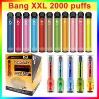 Factory Outlet Bang XXL одноразовый Vape Pen E Cigarettes 2000 Coyts 800 мАч Батарея 24 цвета на складе оптом