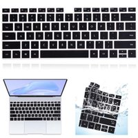 Black Silicone Case For Huawei MateBook 14 D14 D15 X 2021 X Pro 13.9 Honor MagicBook 14 15 Dustproof Laptop Keyboard Cover Covers