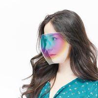 Unisex Face Shield PPE protectora cubierta facial transparente vidrios transparentes visera anti-niebla colorido escudo visera envoltura escudo OWF6000