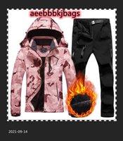 Jaquetas de esqui feminino terno de esqui inverno calças de jaqueta térmica térmica definida windproof snowboarding impermeável feminino ternos casaco de neve