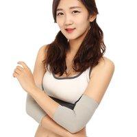 Par de almohadillas de codo elástico de nylon para hombres / mujeres Baloncesto Báxico Protección Braneo Manga transpirable Soporte ultrafino Rodilla