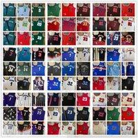 Mitchell e Ness Real Autêntico Stitched Basketball Jerseys Ray Derrick Allen Rose Iverson Toni Scottie Kukoc Pippen Dennis Kevin Rodman Garnett Paul Pierce