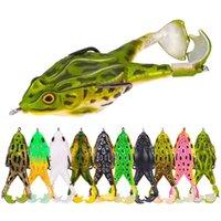 Frog señuelo doble hélice de pesca señuelos de pesca spinner cebo cebo wobblers cebos blandos jigging rana señuelo soporte bland wobblers 1306 Z2