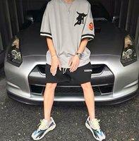 21SS Designer Mesh T-shirts Hip Hop Lose T-Shirt Flut Kurzarm Baseball Uniform Stil Tops für Männer und Frauen Übergroße Paare T Shirts