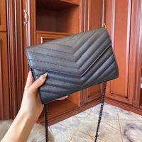 Viene en el bolso de la bolsa de WOC clásico de alta calidad Lianquan003 Hombro de mano Genuine Girl Luxury Boxed con bolsas de cuero. Fashion Ladies Cha Kqto
