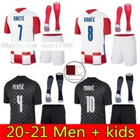 2021 Croazia 축구 유니폼 Hrvatska Modric Mandzukukic Rakitic Perisic Kalinic Kovacic 20 21 키즈 크로아티 국립 축구 셔츠 키트