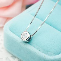 Baolaida S925 الفضة النقية مطعمة مع الماس o- نوع صغيرة الطازجة فقاعة القلائد أزياء المرأة مجوهرات