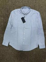 Men's Casual Shirts H897 High Quality Small Horse Cotton Long Sleeve Stripe Shirt Camisa Masculina Men Dress Fashion Hombre Chemises