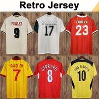 1993 1995 Dalglish Heskey Mens ретро футбол трикотажные изделия Fowler Gerrard Torres Kuyt Home Alem от 3-й футбол рубашка с короткими рукавами для взрослых