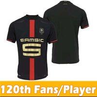 120th Rennes Stade Rennais Soccer Jerseys المشجعين لاعب الإصدار 120 الذكرى الأمان الكبار Kids Kits 2021 Camavinga Guirassy 20 21 Football Jersey