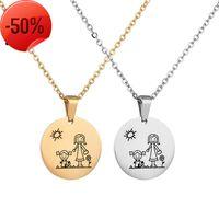 Collana Giornata della mamma Series popolare gioielli moda versatile rotonda marca madre e figlia clavicola catena fai da te lettering