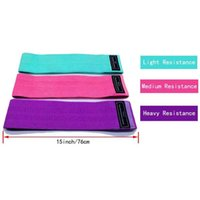 Yoga Fabric Stretch Exercise Fitness Hip Resistance Bands 3PCS set