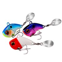 Fishing Lures Wobble Rotating Metal VIB Vibration Bait For Pike Bass Trout Treble Hook Artificial Hard Baits Spinner Spoon Lure