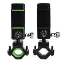 Fahrrad-Telefonhalter 360 ° drehen Fahrrad-Lenker-Halterung Cellphones-Support mit Kompass-LED-Licht-Zyklus-Zubehör Auto-Lkw-Racks