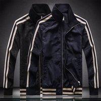 유행 망 재킷 긴 소매 지퍼 블랙 전신 프린트 슬림 한 고품질 윈드 브레이커 남자 얇은 코트 가을 겨울 m- 4xl 야외에서 얇은 코트