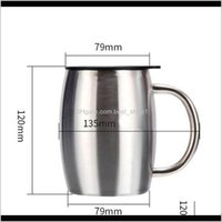 Stainless Steel Tumbler Insulated Vacuum Flasks Thermos Double Layers Belly Cup With Handle Lid Coffee Water Bottle Office Gift Mugs V Iyjkn