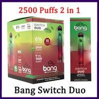 Bang XXL Switch Duo Одноразовые VAGES PEN устройство POD E CIGARETTE KIT 2500 PUYS 1100MAH 7ML PODS VS Ready Mega