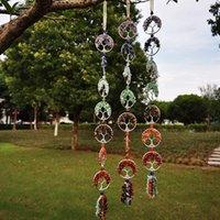 7 Chakra Stones Healing Crystals Tree Of Life Wall Hanging pendant Ornament Decoration For Good Luck Reiki Yoga Meditation Home decor