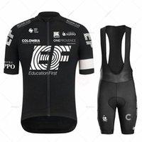 مجموعات سباق 2021 EF فريق الدراجات جيرسي مجموعة أسود رجالي الملابس الطريق دراجة دعوى دراجة مريلة السراويل قمم raphaful ارتداء مايلوت روبا