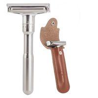 Razor de sécurité Razor Rasoir pour Hommes Rasage réglable Fermer Classic Double bord Double Bord de rasoir Couteau Rasage de remplacement Rasage de rasage Q0524