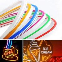 Tiras LED LED Luces de neón de hadas Luz impermeable Luz Flexible Color de Mutil para la fiesta de Navidad Decoración Barra de atenuación con fuente de alimentación DC 12V