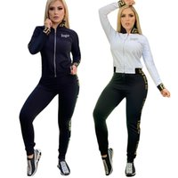 Women's Tracksuits Fashion Design Printing 2 Pieces Sport Casual Suits