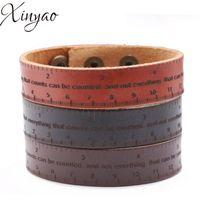 Charm Bracelets XINYAO Minimalist Wrap Genuine Leather For Man Punk Bangle Jewelry Gift F16527