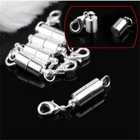 Zilver / Vergulde Magnetische Magneet Ketting Closes Cilinder Gevormde Sluitingen voor Ketting Armband Sieraden DIY 612 Z2