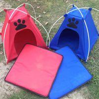 Impronte Portatile Pieghevole Pieghevole Kennel Outdoor Cassetta interna Firances Casa Cabina Acqua Resistente Resistente Mesh Shade Pet Cat Playpen Kennels Pens