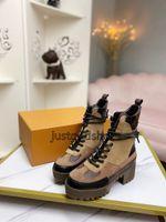 2021ファッション高品質Inluxe婦人革勝者プラットフォーム砂漠のブーツレディース冬のレザー贅沢な女性の靴5cm分厚い