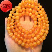 Golden tortoise shell bracelet 108 8mm, bright and lustrous Buddha beads