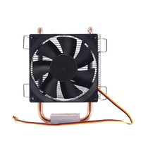 8Cm 2 Heat Pipe 3 Pin Single Fan Without Light Cpu Heatsink For 775 1150 1155 1156 1366 Adm All Laptop Cooling Pads