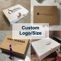 StoBag Blank Gift Box Print Custon Size Wedding Birthday Party Specially Decoration Celebrate Your Style 210602