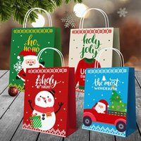 Christmas Candy Gift Bag Xmas Tree Paper Sweater Prints Tote Bags Designs Package Handbags Party Supplies Decorations OWB9150