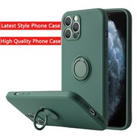 Liquid Silicone Finger Ring Stand Magnetic Holder Bracket For iPhone 13 12