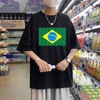 Homens Mulheres Harajuku Tee Som Equalizador Activo El T-shirt Piscando Música Activada LED T Shirt Equalizador Acenda Down LED Tshirt