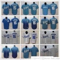 Retro genähter Baseball 16 BO Jackson-Trikots weiß blau 15 Whit Merrifield Jersey Top Qualität leer No Nummername für den Menschen